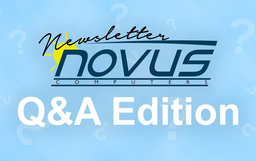 Novus Newsletter Q&A – Question Form